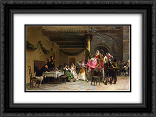 The Departure of the Newlyweds 24x18 Black or Gold Ornate Framed and Double Matted Art Print by Jehan Georges Vibert