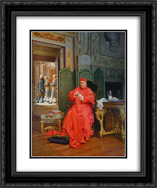 The Diet 20x24 Black or Gold Ornate Framed and Double Matted Art Print by Jehan Georges Vibert