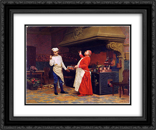 The Marvelous Sauce 24x20 Black or Gold Ornate Framed and Double Matted Art Print by Jehan Georges Vibert