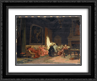 The Missionary's Adventures 24x20 Black or Gold Ornate Framed and Double Matted Art Print by Jehan Georges Vibert