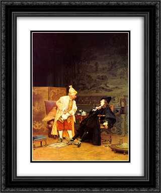 The Sick Doctor 20x24 Black or Gold Ornate Framed and Double Matted Art Print by Jehan Georges Vibert