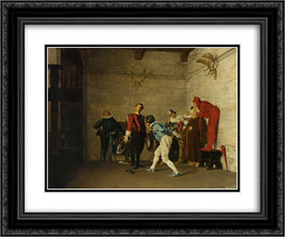 The Thespians 24x20 Black or Gold Ornate Framed and Double Matted Art Print by Jehan Georges Vibert
