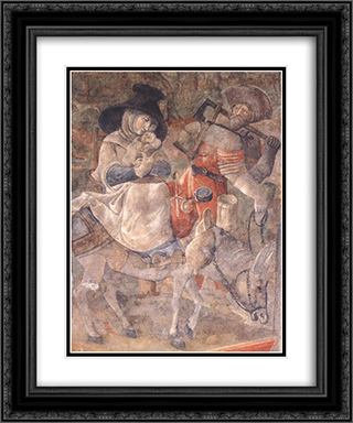 Flight to Egypt 20x24 Black or Gold Ornate Framed and Double Matted Art Print by Jerg Ratgeb