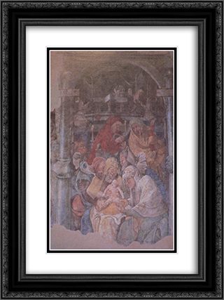 Fresco in the Karmeliterkloster, Frankfurt am Main 18x24 Black or Gold Ornate Framed and Double Matted Art Print by Jerg Ratgeb