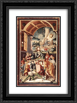 The Last Supper 18x24 Black or Gold Ornate Framed and Double Matted Art Print by Jerg Ratgeb