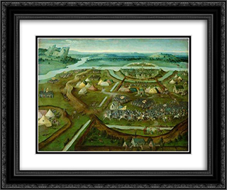 Battle of Pavia 24x20 Black or Gold Ornate Framed and Double Matted Art Print by Joachim Patinir