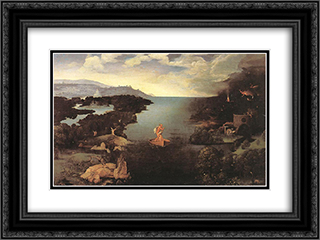 Charon 24x18 Black or Gold Ornate Framed and Double Matted Art Print by Joachim Patinir