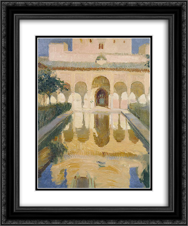 Hall of the Ambassadors, Alhambra, Granada 20x24 Black or Gold Ornate Framed and Double Matted Art Print by Joaquin Sorolla