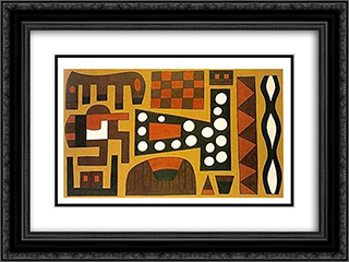 A Estacao 24x18 Black or Gold Ornate Framed and Double Matted Art Print by Joaquim Rodrigo