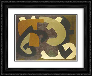 C7 24x20 Black or Gold Ornate Framed and Double Matted Art Print by Joaquim Rodrigo