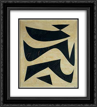C9 20x22 Black or Gold Ornate Framed and Double Matted Art Print by Joaquim Rodrigo