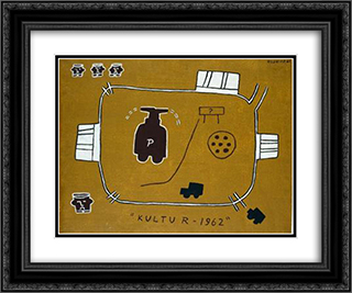 Kultur 24x20 Black or Gold Ornate Framed and Double Matted Art Print by Joaquim Rodrigo