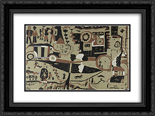 Sem titulo 24x18 Black or Gold Ornate Framed and Double Matted Art Print by Joaquim Rodrigo