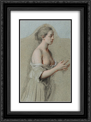 Die bussende Maria Magdalena 18x24 Black or Gold Ornate Framed and Double Matted Art Print by Johann Anton de Peters