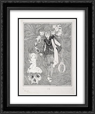 Hamlet 20x24 Black or Gold Ornate Framed and Double Matted Art Print by John Austen