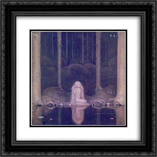 Bland tomtar och troll 20x20 Black or Gold Ornate Framed and Double Matted Art Print by John Bauer