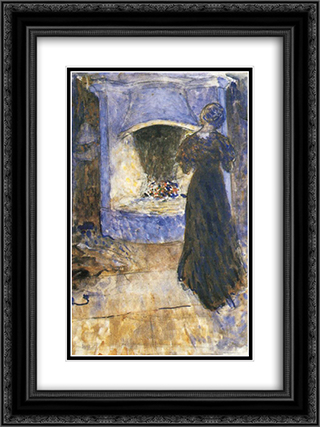 Ester in the cottage 18x24 Black or Gold Ornate Framed and Double Matted Art Print by John Bauer