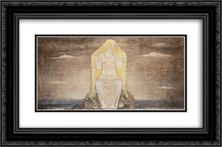 Freja 24x16 Black or Gold Ornate Framed and Double Matted Art Print by John Bauer