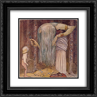 Here is a piece of a troll herb which nobody else but me can find 20x20 Black or Gold Ornate Framed and Double Matted Art Print by John Bauer