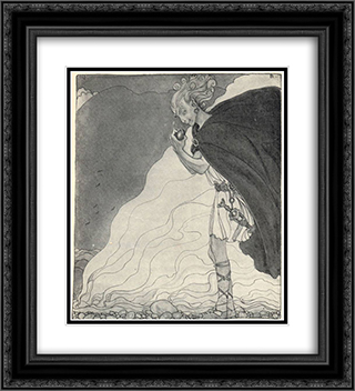 Loki finds Gullveig's Heart 20x22 Black or Gold Ornate Framed and Double Matted Art Print by John Bauer