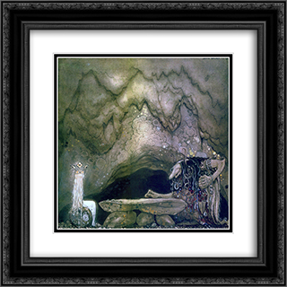 So, how is your appetite, troll mother continued 20x20 Black or Gold Ornate Framed and Double Matted Art Print by John Bauer