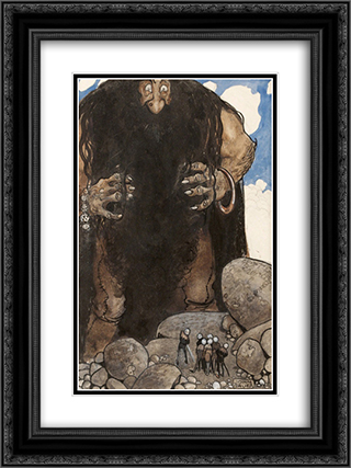 Stormjatten jordskakaren 18x24 Black or Gold Ornate Framed and Double Matted Art Print by John Bauer