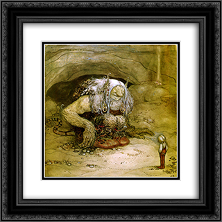 The boy who was never afraid 20x20 Black or Gold Ornate Framed and Double Matted Art Print by John Bauer