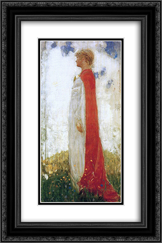 The Fairy Princess 16x24 Black or Gold Ornate Framed and Double Matted Art Print by John Bauer