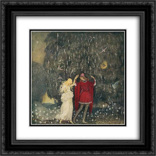 Tomtar 20x20 Black or Gold Ornate Framed and Double Matted Art Print by John Bauer