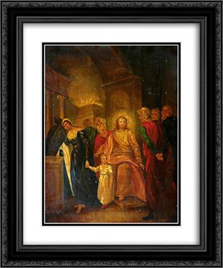 Justice (Christ and the Elders in the Temple) 20x24 Black or Gold Ornate Framed and Double Matted Art Print by John Bradley