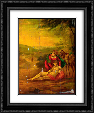 Philanthropy (The Good Samaritan) 20x24 Black or Gold Ornate Framed and Double Matted Art Print by John Bradley