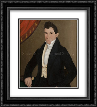 Portrait of Captain John Cole 20x22 Black or Gold Ornate Framed and Double Matted Art Print by John Bradley