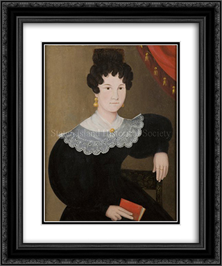 Portrait of Catherine Rachel (Winant) Cole 20x24 Black or Gold Ornate Framed and Double Matted Art Print by John Bradley