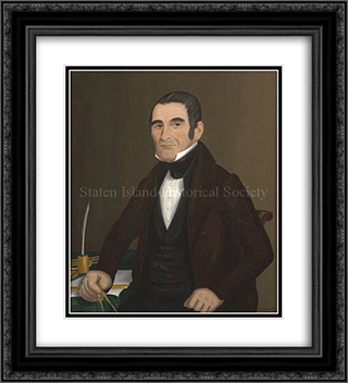 Portrait of John Totten 20x22 Black or Gold Ornate Framed and Double Matted Art Print by John Bradley