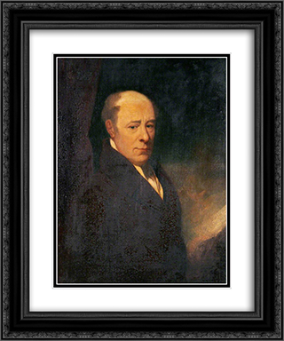 Sir Robert Seppings 20x24 Black or Gold Ornate Framed and Double Matted Art Print by John Bradley