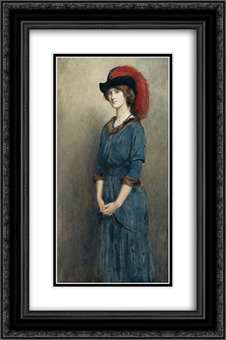 Angela McInnes 16x24 Black or Gold Ornate Framed and Double Matted Art Print by John Collier