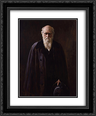 Charles Robert Darwin 20x24 Black or Gold Ornate Framed and Double Matted Art Print by John Collier