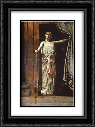 Clytemnestra 18x24 Black or Gold Ornate Framed and Double Matted Art Print by John Collier