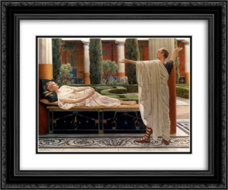 Horace and Lydia 24x20 Black or Gold Ornate Framed and Double Matted Art Print by John Collier