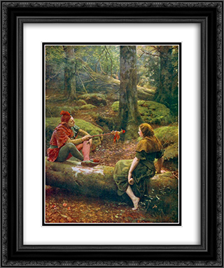 In the Forest of Arden 20x24 Black or Gold Ornate Framed and Double Matted Art Print by John Collier