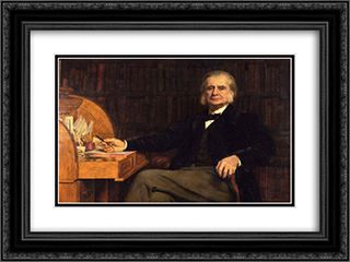 Portrait of Professor Huxley 24x18 Black or Gold Ornate Framed and Double Matted Art Print by John Collier