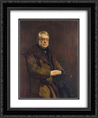 Sir George Biddell Airy 20x24 Black or Gold Ornate Framed and Double Matted Art Print by John Collier