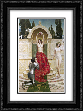 Tannhauser in the Venusberg 18x24 Black or Gold Ornate Framed and Double Matted Art Print by John Collier