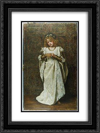 The Child Bride 18x24 Black or Gold Ornate Framed and Double Matted Art Print by John Collier