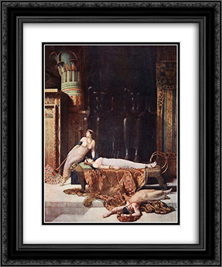 The Death of Cleopatra 20x24 Black or Gold Ornate Framed and Double Matted Art Print by John Collier