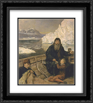 The Last Voyage of Henry Hudson 20x22 Black or Gold Ornate Framed and Double Matted Art Print by John Collier