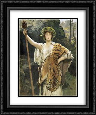The Priestess of Bacchus 20x24 Black or Gold Ornate Framed and Double Matted Art Print by John Collier