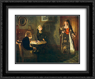 The Prodigal Daughter 24x20 Black or Gold Ornate Framed and Double Matted Art Print by John Collier