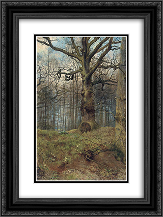 The Spring Wood 18x24 Black or Gold Ornate Framed and Double Matted Art Print by John Collier