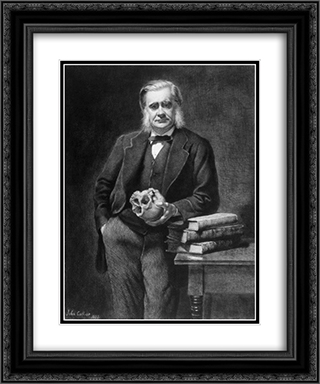 Thomas Henry Huxley 20x24 Black or Gold Ornate Framed and Double Matted Art Print by John Collier